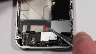 Ремонт iPhone 4s замена динамиков айфон 4с (speaker removing iPhone 4s)(Инструкция по замене обоих динамиков iPhone 4s. http://macplus.ru/ --- ремонт техники Apple http://mac-parts.ru/ --- самый большой..., 2012-01-10T13:38:01.000Z)