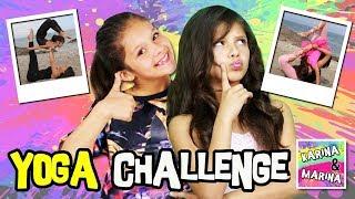 🤸♀️ ¡¡YOGA CHALLENGE!!  🌈  Hacemos el RETO del YOGA con mi HERMANA ✨ AcroYoga : Karina VS Marina