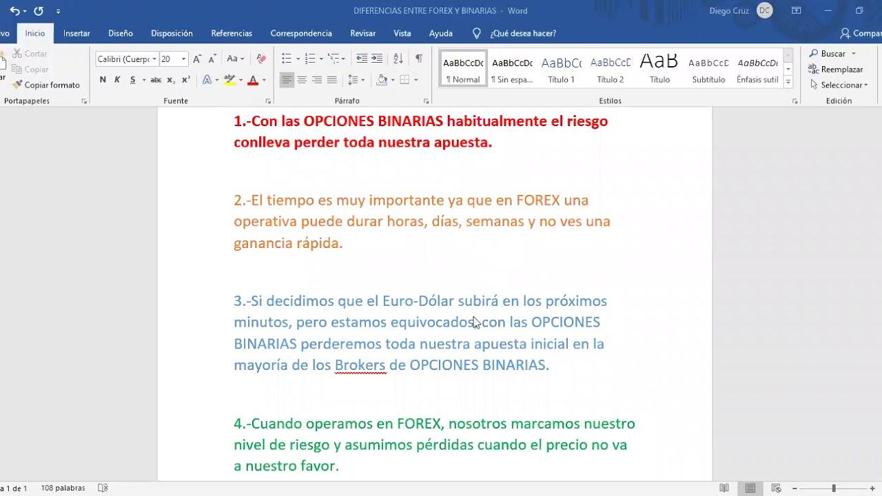 8.-Diferencia entre Forex y Binarias - YouTube