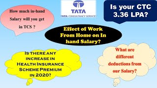 In-hand Salary in TCS for Freshers l Payslip detailed explanation l