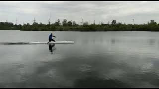Гребля на каноэ Plastex Racing Smart C1, озеро Спартак, Новосибирск.
