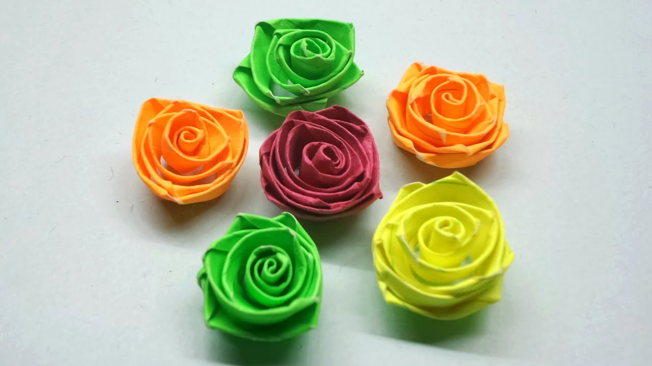 How To Make Quilling Rose Flowers Paper Quilling Rose Youtube