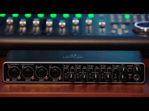 U-PHORIA UMC404HD Audio Interface Overview