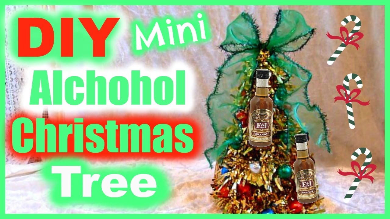 Diy Alcohol Bottle Christmas Tree Gift Idea Youtube