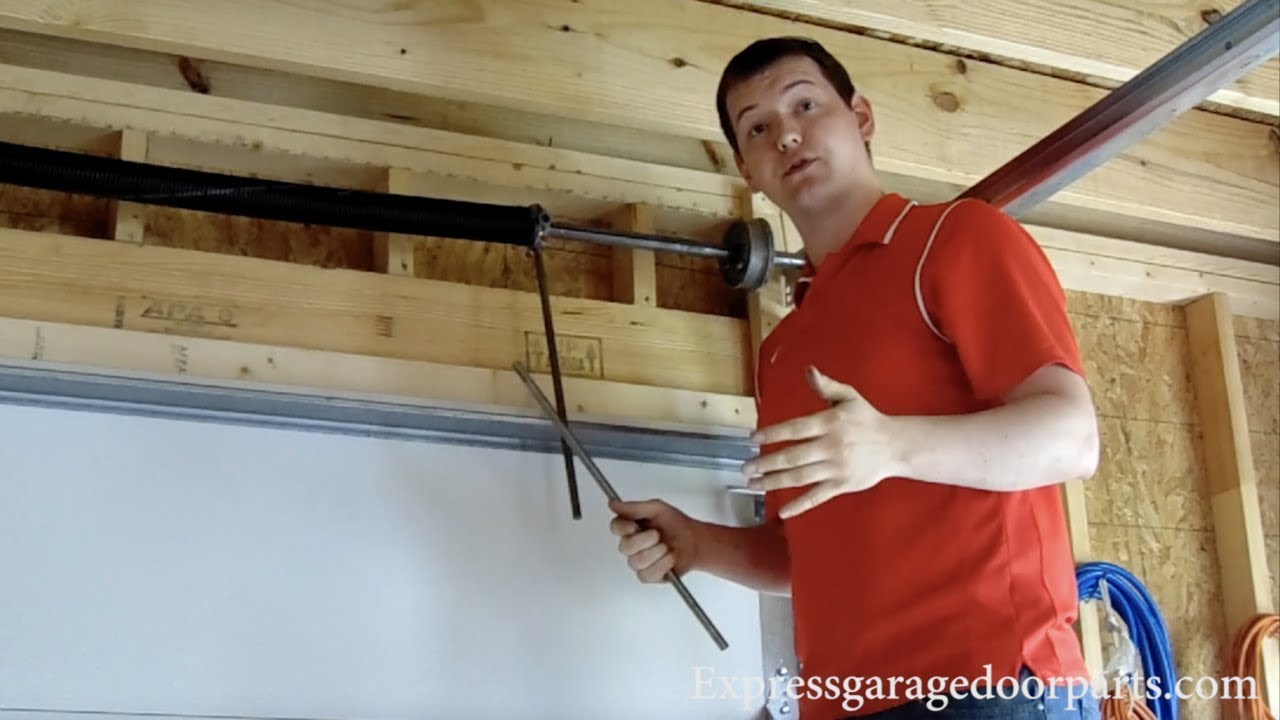 How Many Turns To Put On Your Garage Door Springs Youtube