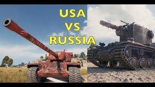 WOT - USA vs Russia! | World of Tanks