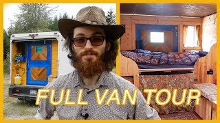 Student Converts Step Van Into DIY Tiny Home ~ Full Tour