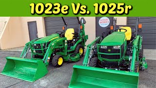 Is It Worth The Money? John Deere 1023e Versus 1025r & Plus Their Attachments!