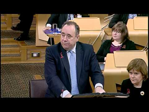 First Minister's Questions - Scottish Parliament: 1st December 2011