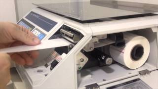 How to Load labels into the CAS LP 1000N Label Printing Scale