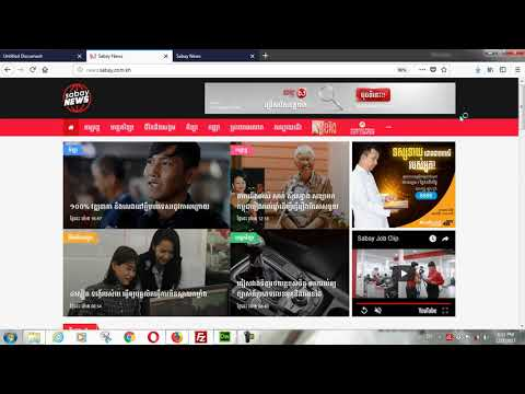 CSS create sabay news web tempalte. by Pheakdey