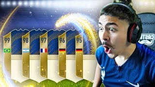 20 GUARANTEED ICON SBC PACKS!! OMGGG!! FIFA 18 World Cup