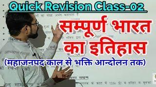 Complete Indian History Class-02 महाजनपद काल से भक्ति आन्दोलन