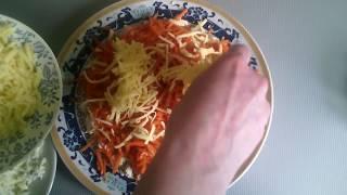 Салат простой с курицей и корейской морковью