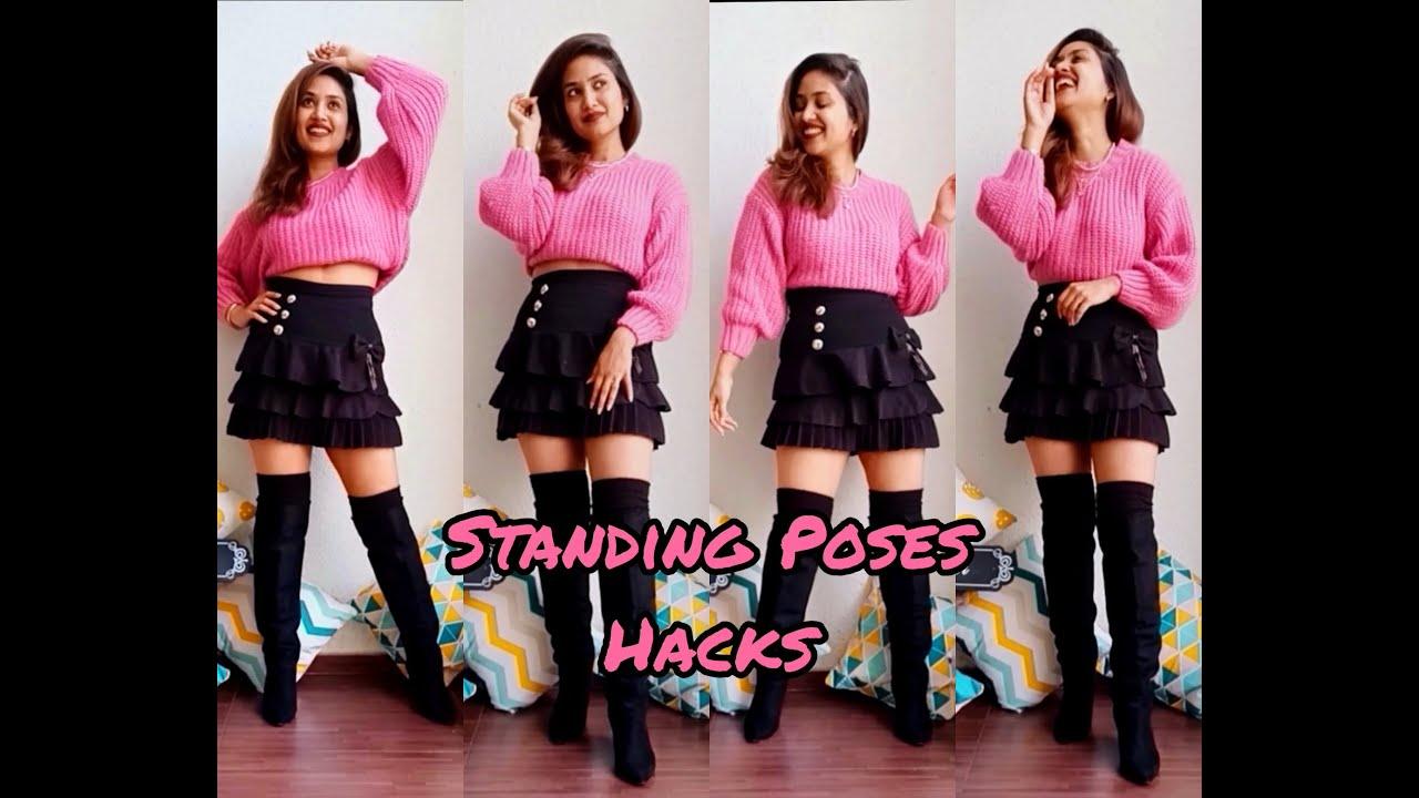 Standing Poses Hacks💁♀️| BeingNavi | Vaishnavi Naik