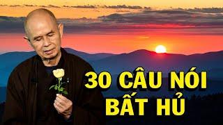 Thiền sư Thích Nhất Hạnh và 30 câu nói bất hủ - Thiền Đạo