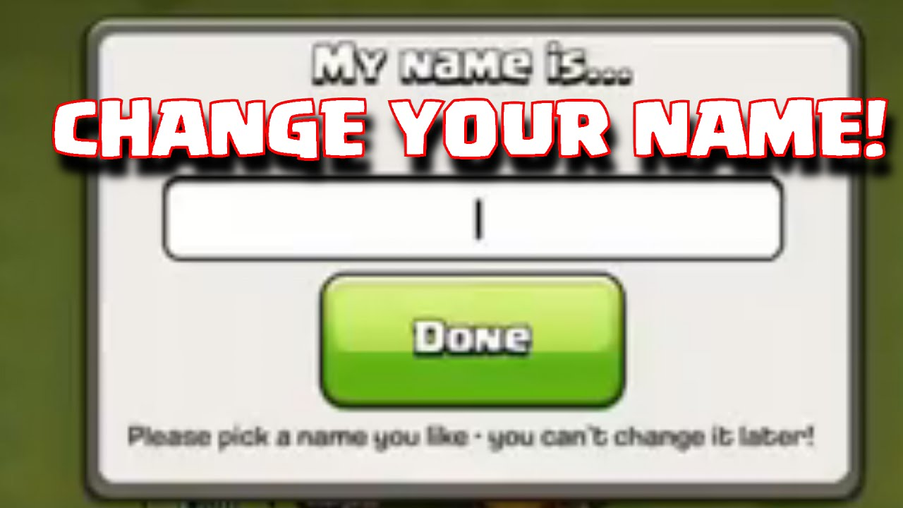 Clash Of Clans Name Change Update  Change Village Name Update