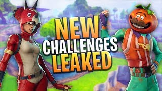 *LEAKED* NEW BATTLE PASS SEASON CHALLENGES (WEEK 9) - Fortnite: Battle Royale
