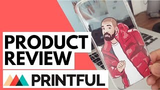 Printful Phone Case, Hat Embroidery and Apparel Review - including Cut and Sew prints