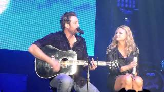 Blake Shelton and Miranda Lambert  duet in Dayton Ohio 2/15/13