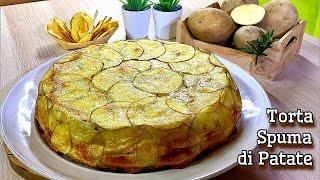 TORTA  SPUMA DI PATATE ricetta facile e sfiziosa POTATO SPUME CAKE - Tutti a tavola
