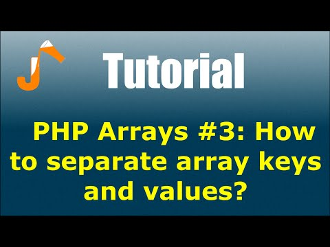 php get keys and values from array