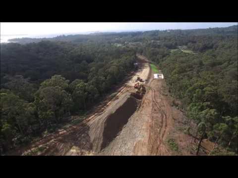 Construction progress on the south Batemans Bay link road  'Glenella Road'  March 2017