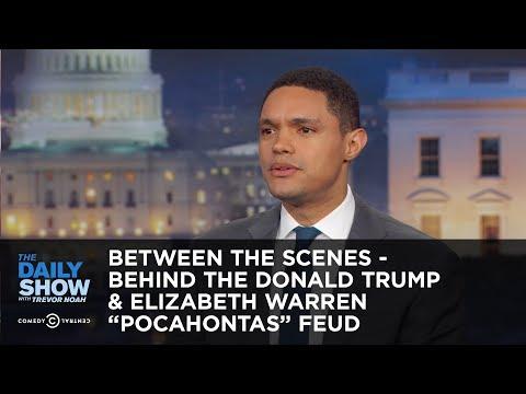 """Between the Scenes – Behind the Donald Trump & Elizabeth Warren """"Pocahontas"""" Feud"""