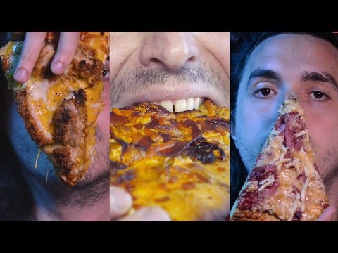 ASMR Eating Pizza For Two Hours No Talking 먹방