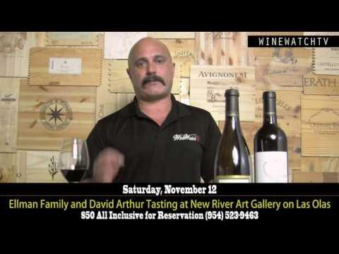 Ellman Family & David Arthur Tasting at New River Art Gallery on Las Olas - click image for video