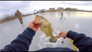 Handlining Winter Bass -- Tip-up Ice Fishing