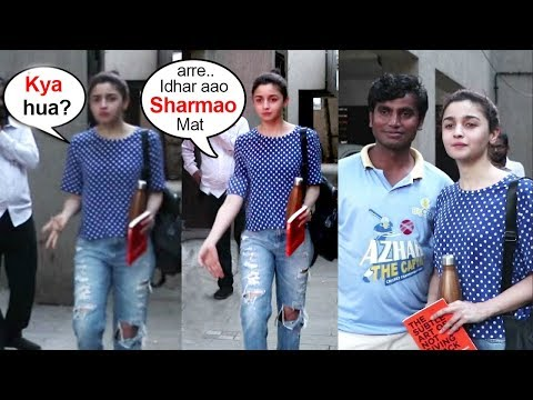 Alia Bhatt's Does This CUTEST Thing For A Shy FAN Waiting Long Time For Her