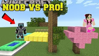 Minecraft: NOOB VS PRO!!! - BUILD BATTLE PRO TEAM! - Mini-Game