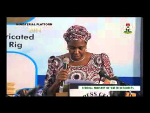 Ministerial Press Briefing 2014: Presentation by the Minister of Water Resources, Sarah Ochekpa