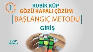 Rubik Küp Gözü Kapalı Çözüm Başlangıç Metodu (POOP)   GİRİŞ