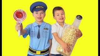 Играем в Полицейского play the police Ринат задержал нарушителя