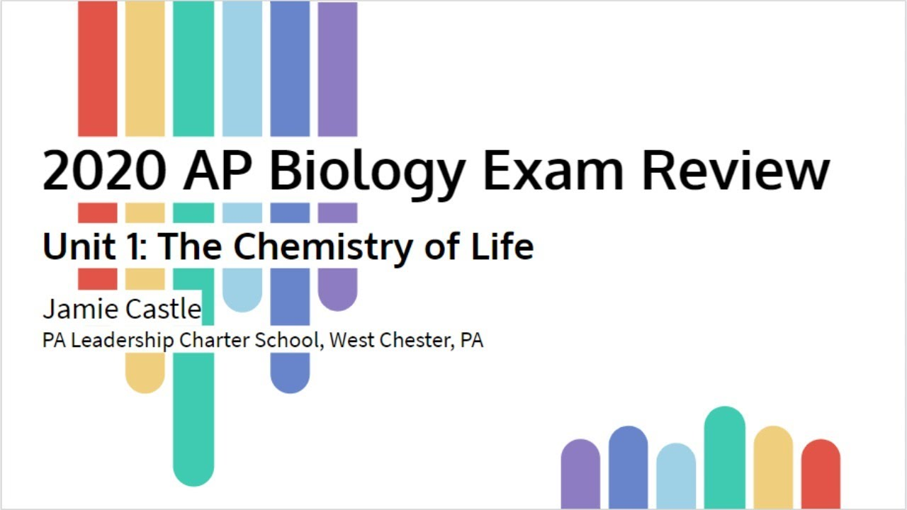 Ap Biology Live Stream Review Session Unit 1 The Chemistry Of Life Youtube