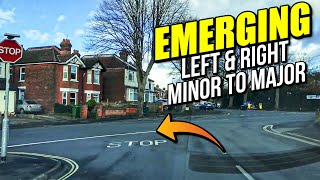 Emerging Left & Right - Minor to Major Road fully explained and sho...