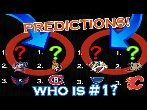 2017-2018 NHL STANDING PREDICTIONS | ALL 4 DIVISIONS