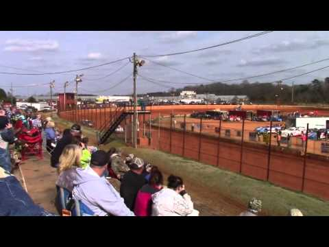Hartwell Speedway Hobby Car Heat Races Opening Day 3/5/16