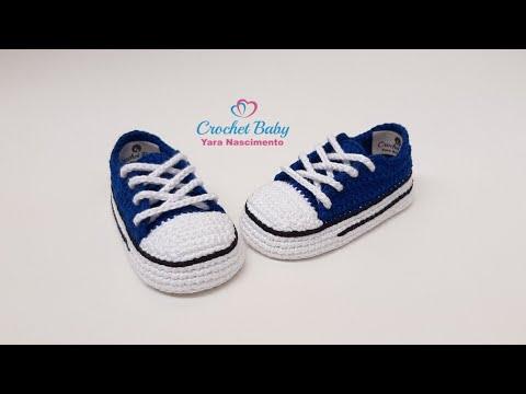 8cd4175c7c3 All Star de Crochê - Tamanho 09 cm - Crochet Baby Yara Nascimento PARTE 01