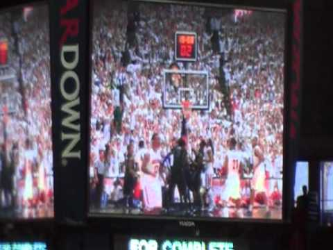 University of Arizona Basketball: Post Game Ceremony at Mckale Center Pac 10 Champs 3/5/11