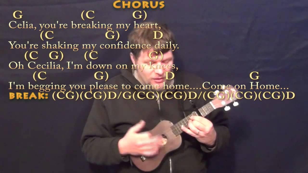 Cecilia simon garfunkel ukulele cover lesson with chords cecilia simon garfunkel ukulele cover lesson with chordslyrics capo 4th hexwebz Images