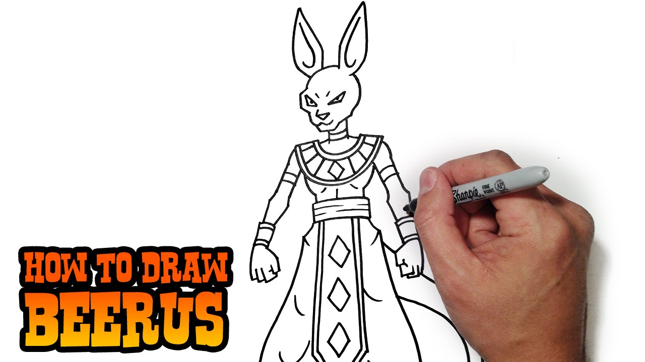 How To Draw Beerus God Of Destruction Youtube