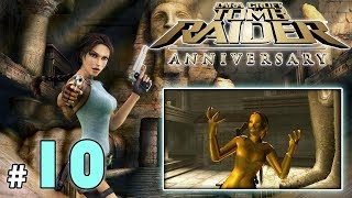 "TOMB RAIDER Anniversary #10 - Pałac Midasa [1/2] - ""Szalona kamera, złota Lara i ogień"""