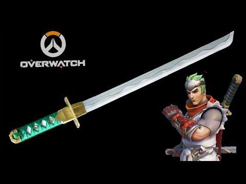 How to make Paper Ninja Sword - Young Genji Sword - Overwatch