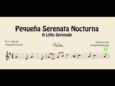 A Little Night Music Sheet Music for Violin Pequeña Serenata Nocturna