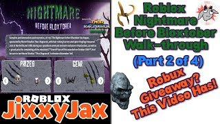 Roblox | Nightmare Before Bloxtober Event Part 2 ✦ Plus Robux Giveaway | JixxyJax