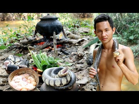 Top 5 Videos Viral Primitive Technology 2018 - Find Food in forest - Cooking eating very Yummy