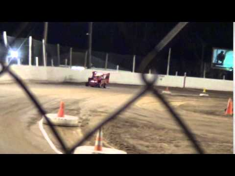 Amanda's first ride in a Slingshot -Snydersville Raceway 10-24-14